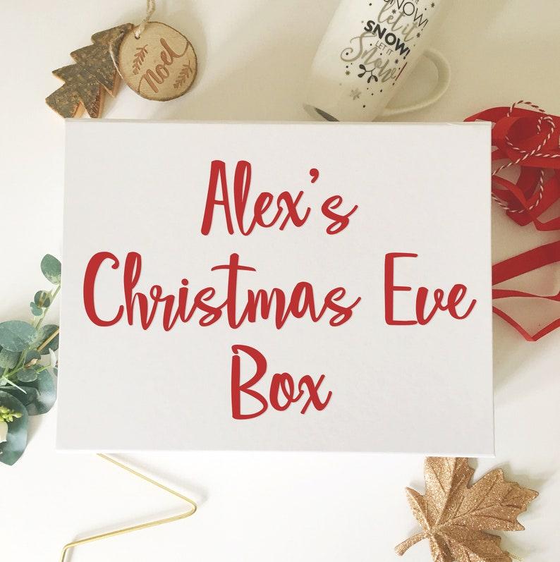 Vinyl Decal Sticker for Christmas Eve Box  DIY Xmas Box Make image 0