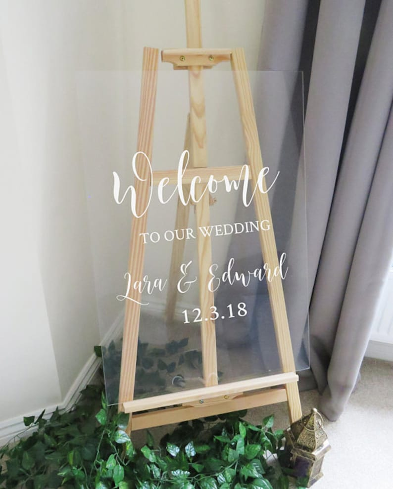 Vinyl Decal Sticker for DIY Wedding Welcome Sign  11 image 0
