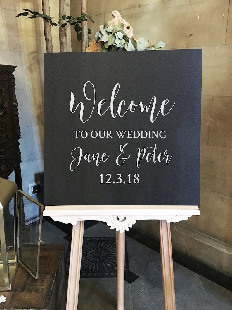 Vinyl Sticker Decal Wedding Welcome  18/22/30 inches wide  image 0