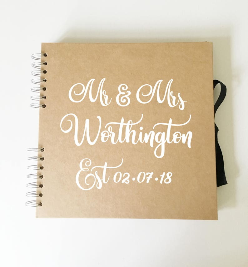DIY Vinyl Sticker for Personalised Guest Book Scrap Book image 0