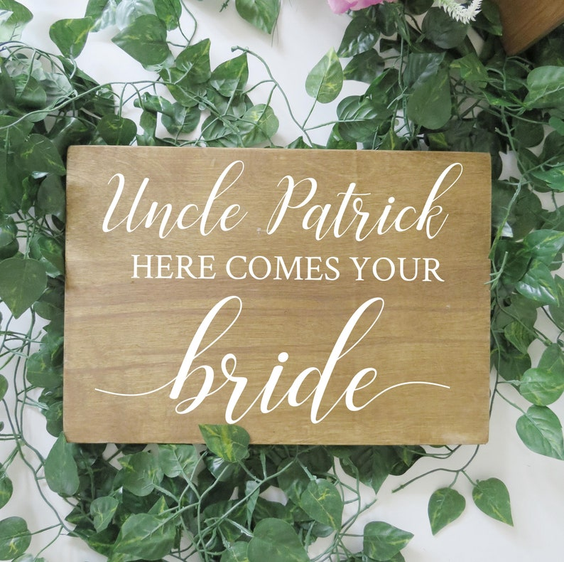 Vinyl Decal for Here comes your Bride Page Boy or Flower Girl image 0