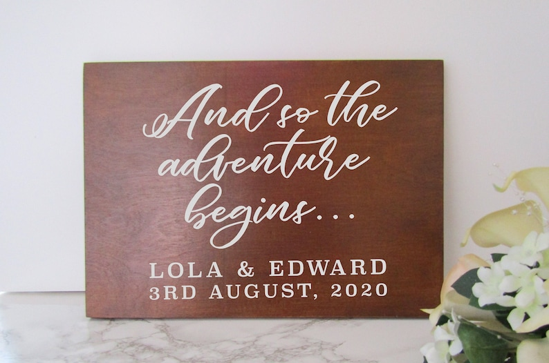 Vinyl Decal Sticker 'And so the Adventure Begins...' image 0