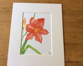 Hibiscus giclee print 5 x 7