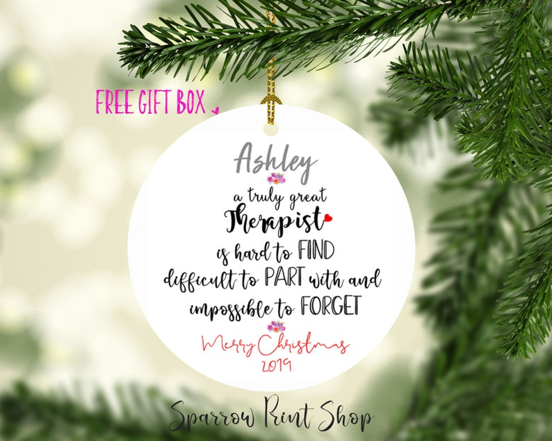 Holiday Sale 25%| Christmas Ornament| Therapist Counselor Christmas Gift|  Gift for Therapist|Therapist Christmas Ornament| Therapist| O21