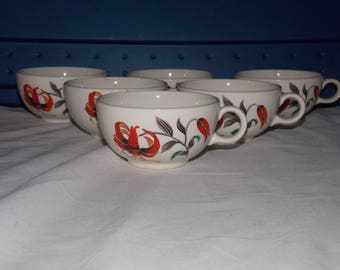 Harmony House by Salem China Co Tiger Lily 6 cup set