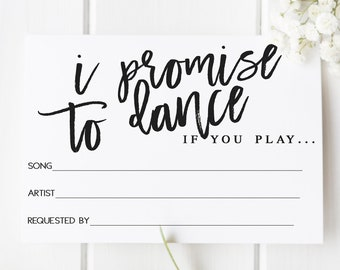 Party Music DJ Suggestion Cards 50 Song Request Cards