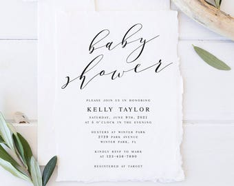 Elegant Baby shower Invitation Template DIY Baby Shower Template PDF Baby  Shower Template Baby Modern Invitation Rustic BabyShower DIY bf1d5e5bd5