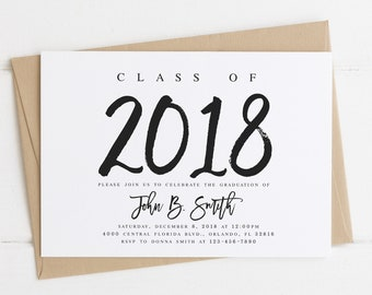 Graduation invitation template | Etsy