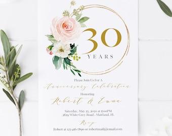 anniversary invite etsy