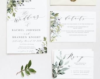 Vintage Wedding Invitation Template Rustic Wedding