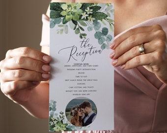 Printable Wedding Program With Photo Wedding Or Event Etsy
