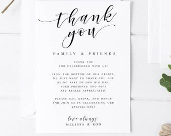 Wedding Thank You Etsy