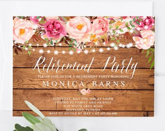 retirement party invitation template printable farewell party etsy