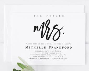 the future mrs bridal shower invitation template future mrs invite modern bridal shower invitation future mrs editable pdf template wp40
