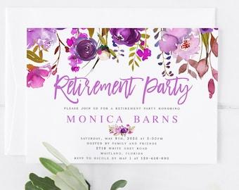 retirement party invitation templates