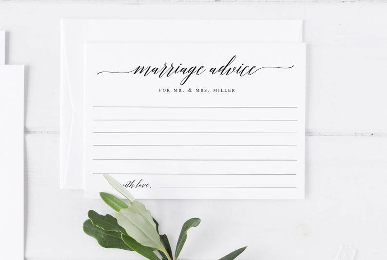 Marriage advice for the bride