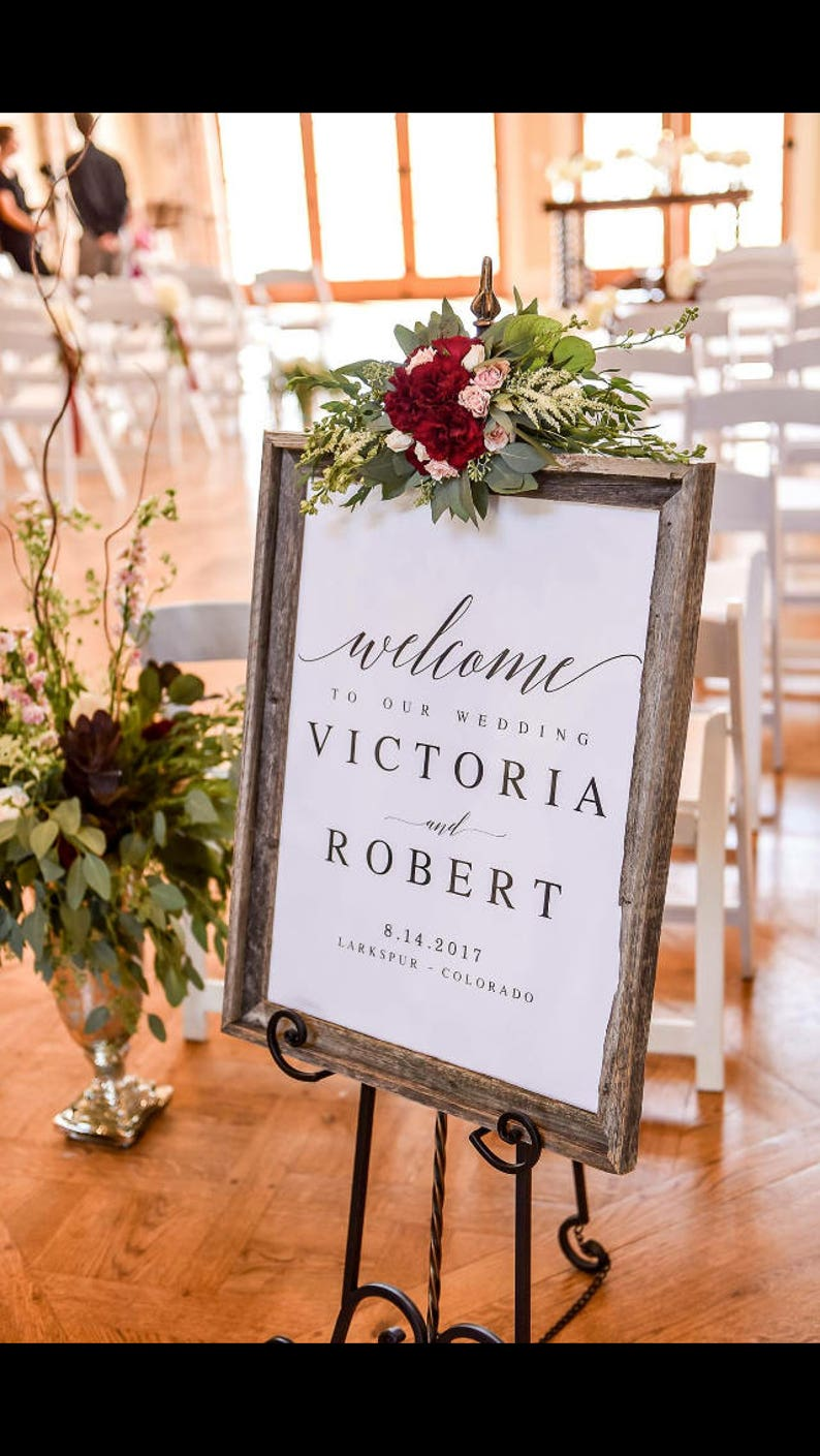 Elegant Welcome to our Wedding Sign Template Welcome Wedding image 0