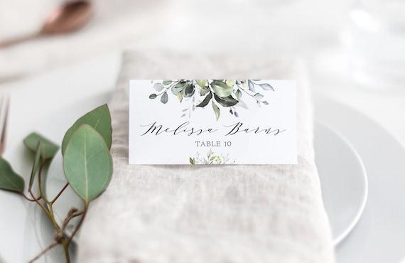 Wedding Place Card Template Greenery Escort Cards Greenery Wedding Ethereal Greenery Place Card Template Octavia Greenery Table Cards