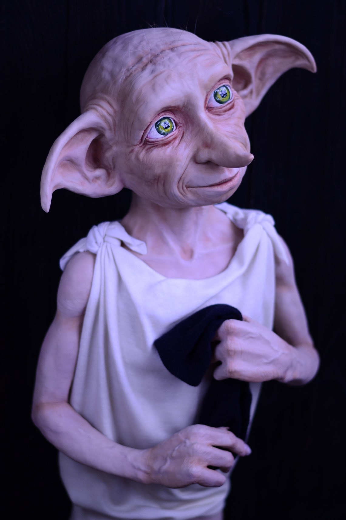 Dobby elf. Polymer clay handmade doll. image 0