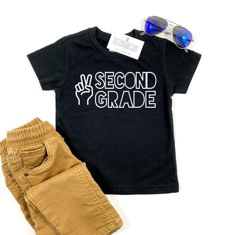 Second Grade Shirt First Day School Shirt 2nd Grade Back to image 0