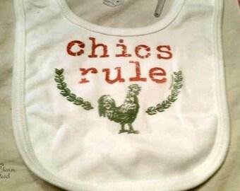 Chics Rule Baby Bib