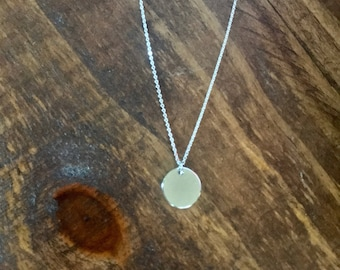 Simple silver circle necklace • dainty chain •