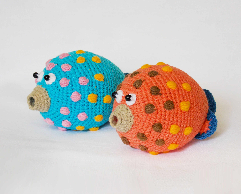 Amigurumi Crochet Pattern Fish Crocheted Fish Amigurumi Etsy