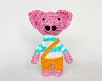 Amigurumi crochet pattern pig / crocheted pig / amigurumi pattern animals / pig soft toy / amigurumi toys /