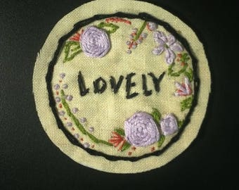 Lovely Floral Embroidery Patch