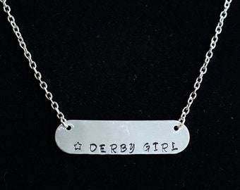 Roller Derby Derby Girl Bar Necklace