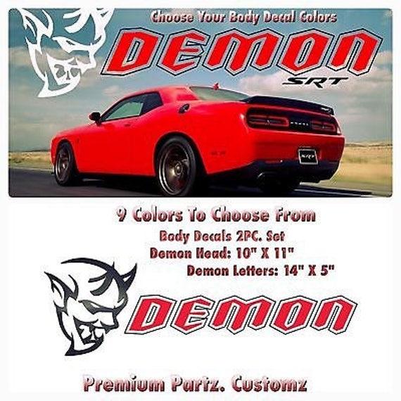 Dodge Demon Colors >> Dodge Demon Decal Big 9 Colors Challenger Mopar Srt8 Dart Windows Banner Body Jeep