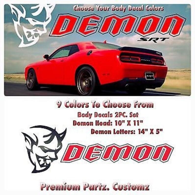 Dodge Demon Colors >> Dodge Demon Decal Big 9 Colors Challenger Mopar Srt8 Dart Etsy