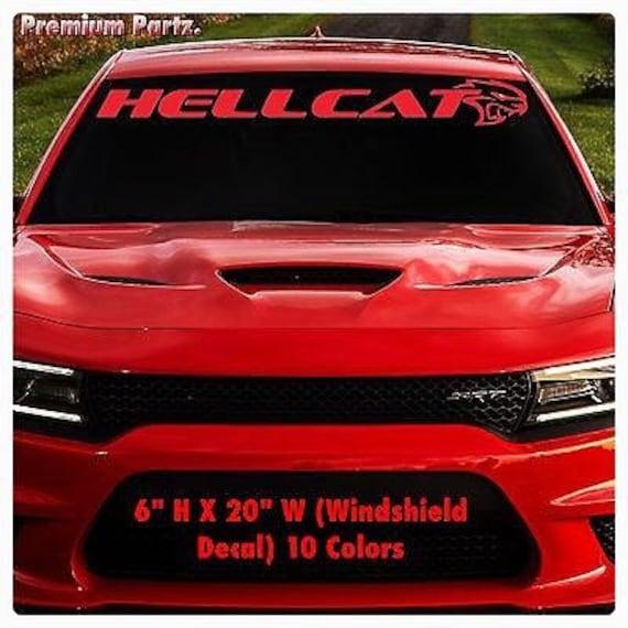 1950-2017 Dodge Mopar Hellcat Windshield Body Decal New