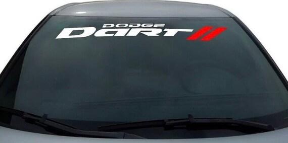 2017 Dodge Dart >> 1950 2017 Dodge Dart Decal Windshield Body Decal Sticker New Custom 1pc Fits Challenger Ram Jeep Srt Rt Charger Dodge