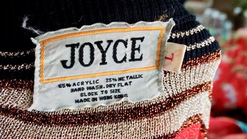 1960s Vintage Joyce Metallic Tunic Size L Glam Cocktail Party 60s Fashion