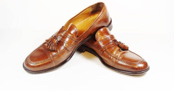 6b7b55e0e8d Vintage Johnston   Murphy Men s Italian Tassel Loafers