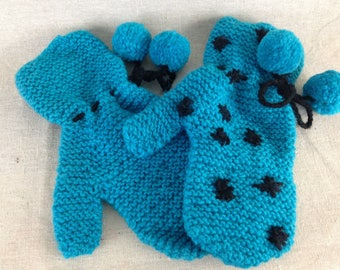 Hand Knitted wool Mitten