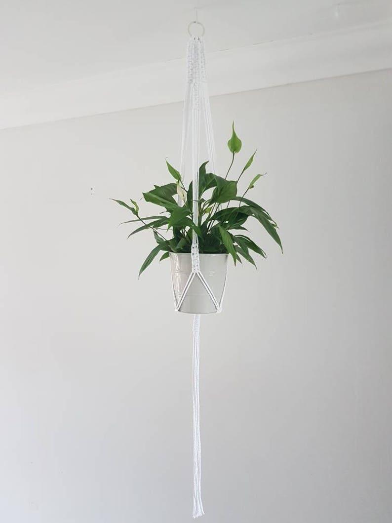 Tuknon Rope Hanging Planter 4 Pcs Pattern Indoor Macrame Plant