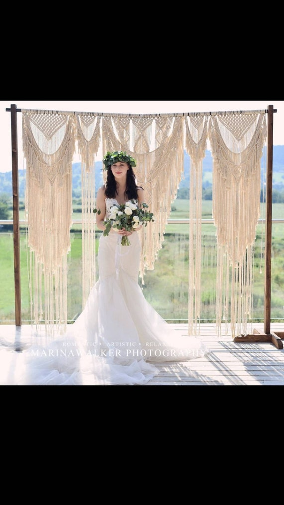 Rental Only Wedding Backdrop Macrame Wedding Arch Macrame Etsy