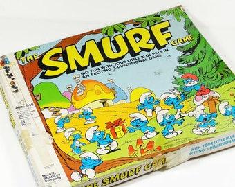 1981 Smurf Game - Milton Bradley - Vintage Game Smurfs