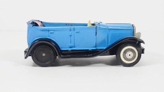 Vintage Metal Toy Car Sign of Quality Japan Antique Pressed Tin Toy Car  Jalopy