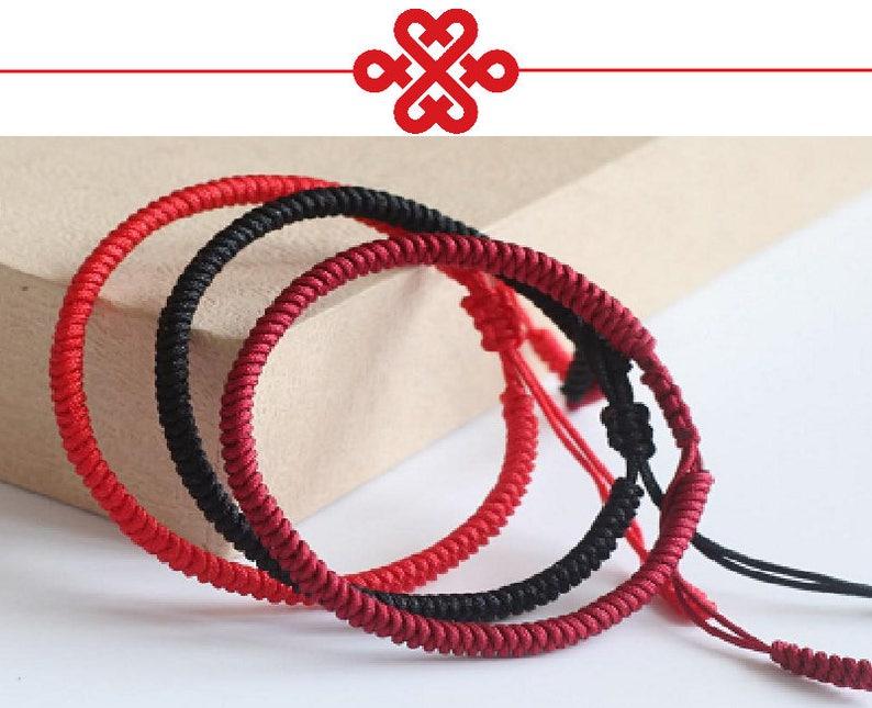 72b996684e18d Multi Color Handmade Bracelet Tibetan Buddhist Knots Lucky