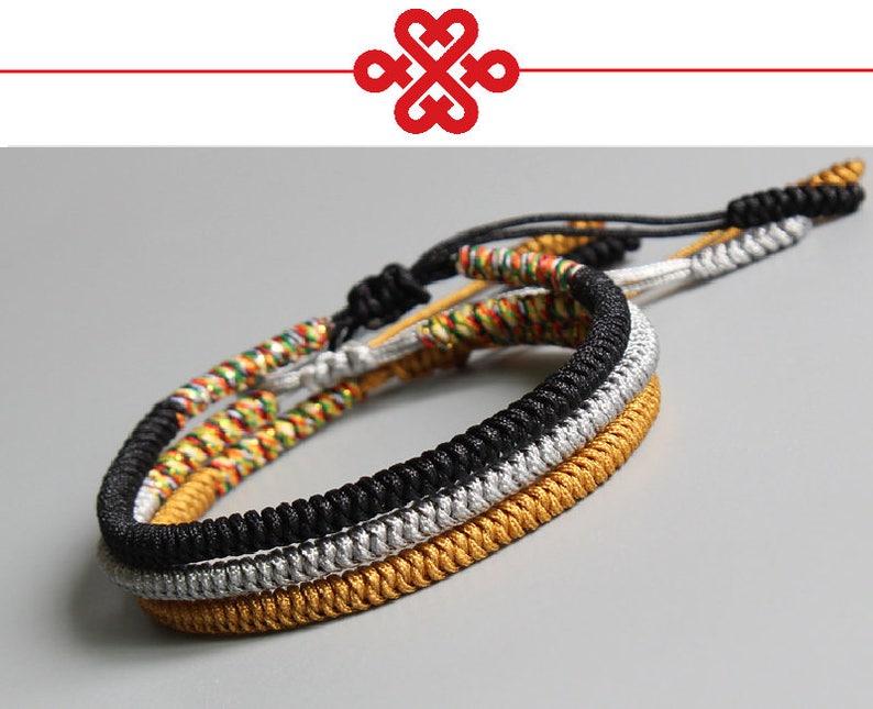 c8c8a61111ec0 Tibetan Buddhist Handmade Knots LUCKY Rope Bracelets