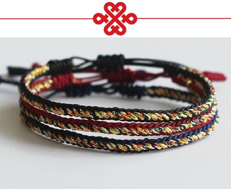 83fbd167f098b Tibetan Buddhist Handmade Knots Lucky Rope Bracelet Unisex