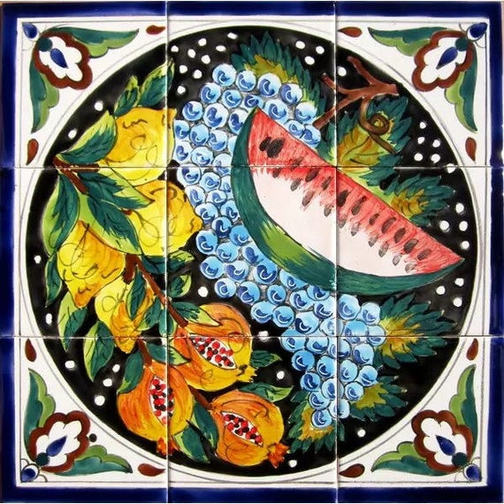 Business Industrial Decorations Decor Mosaic Panel Hand Painted Kitchen Wall Mural Art Fruit Decorative Ceramic Tiles Studio In Fine Fr