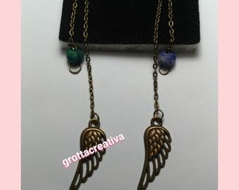 Vintage plumage earrings