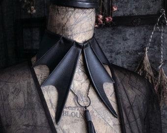 bat choker collar necklace | black bat choker | gothic collar | vampire bat | bat wings necklace | faux vegan leather | halloween