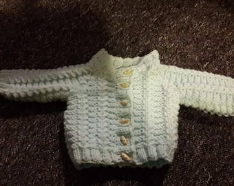 0-3 month cardigan hand knitted