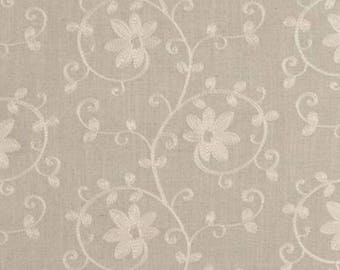 F0353-5 ashley floral  linen by Clarke  & Clarke