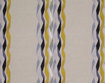 James Hare Yellow Carnival Stripe Fabric